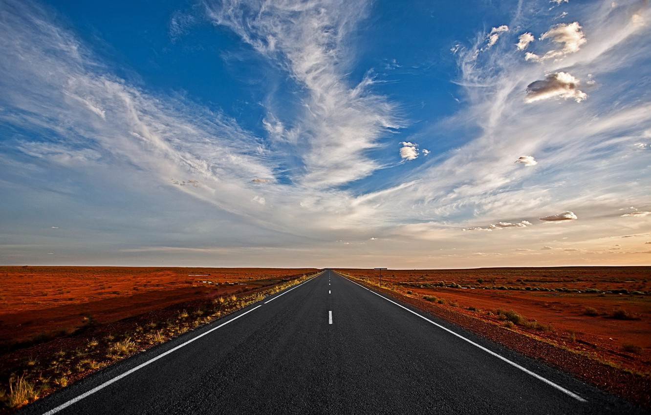 Wallpaper Cloud Straight Road To Nowhere Images For Desktop