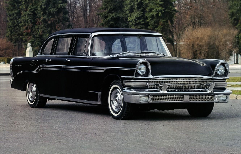 Photo wallpaper retro, car, limousine, Soviet, ZIL 111, ZIL 111