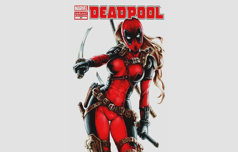 Photo wallpaper Deadpool, Marvel, Deadpool, comic, comics, Marvel, Wanda Wilson, Lady Deadpool, Lady Deadpool, Wanda Wilson