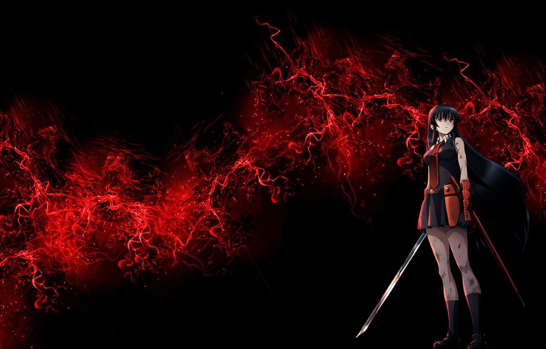 Wallpaper Girl Sword Killer Anime Art Akame Akame Ga Kill