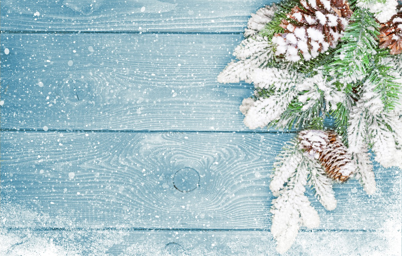 Photo wallpaper winter, snow, tree, New Year, Christmas, Christmas, bumps, wood, winter, snow, decoration, Merry