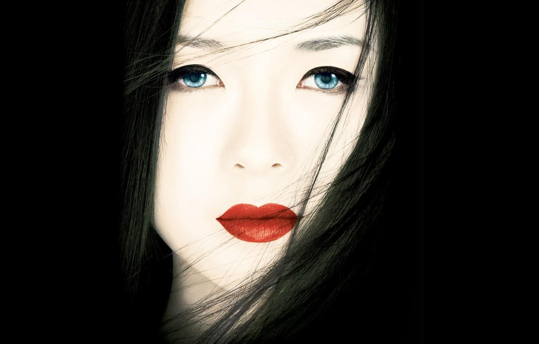 Photo wallpaper face, Zhang Ziyi, memoirs of a geisha