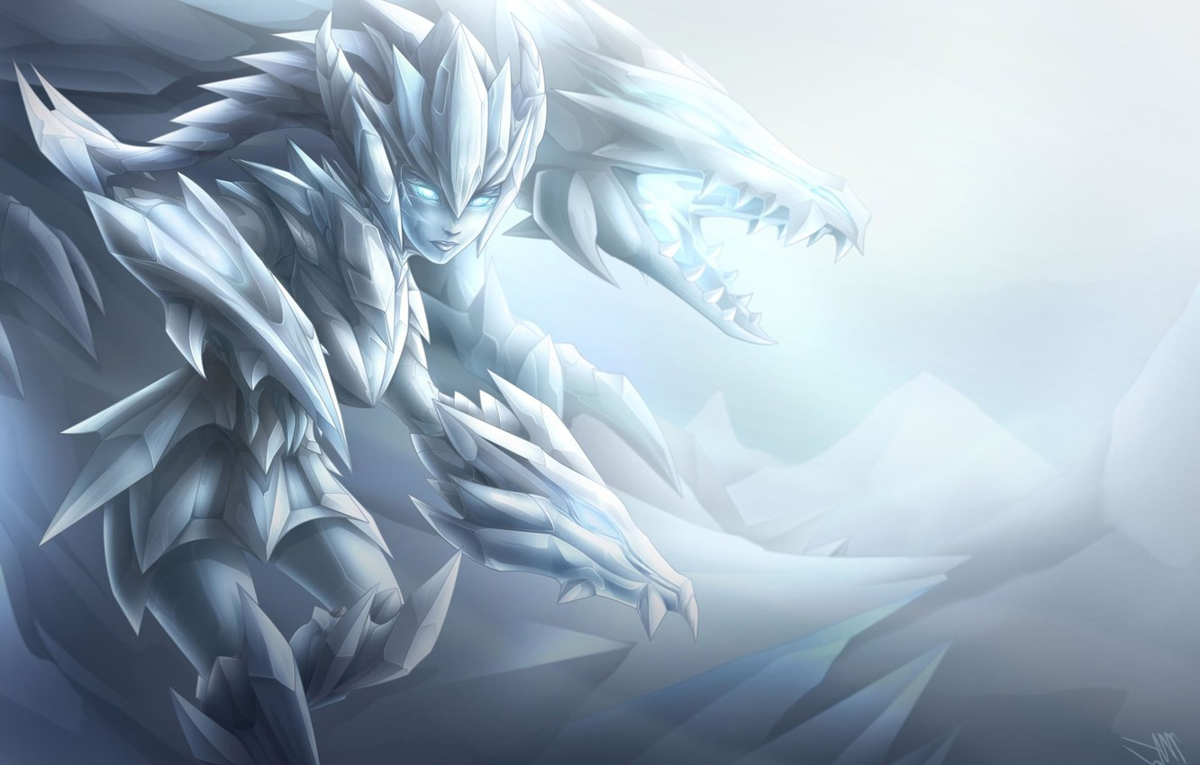 Photo wallpaper Frost, League of legends, Shyvana, Ise Dragon