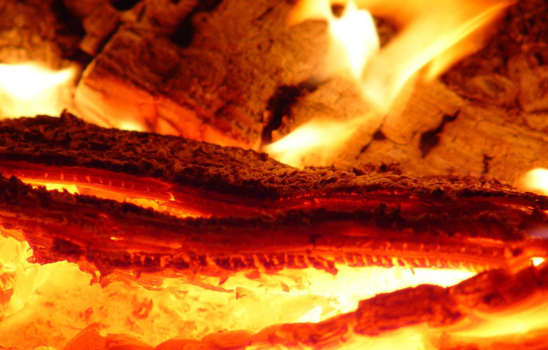 Photo wallpaper fire, flame, coal, hot