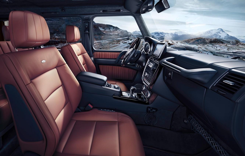 Photo wallpaper Mercedes-Benz, salon, G500, 2015