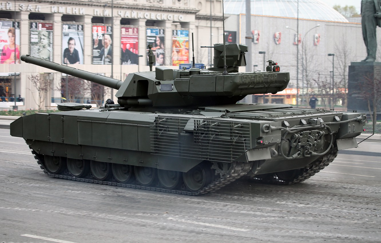 Photo wallpaper Moscow, Victory Parade, May 9, Armata, T-14, Rehearsal
