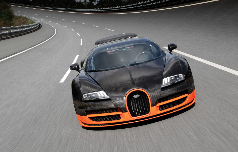 Photo wallpaper Machine, Bugatti Veyron, Super Sport, World Record