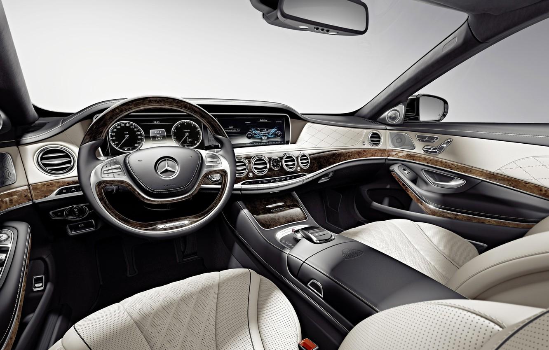 Photo wallpaper Mercedes-Benz, interior, Maybach, salon, Mercedes, Maybach, S-Class, X222, 2015