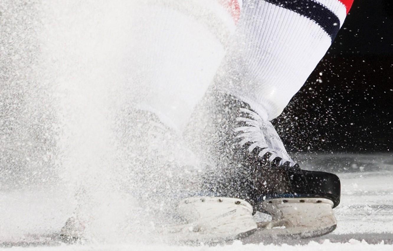 Photo wallpaper ice, squirt, sport, hockey, skates