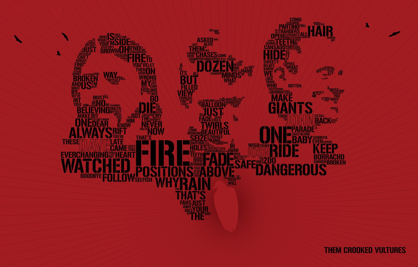 Photo wallpaper labels, minimalism, group, rock, words, band, them crooked vultures
