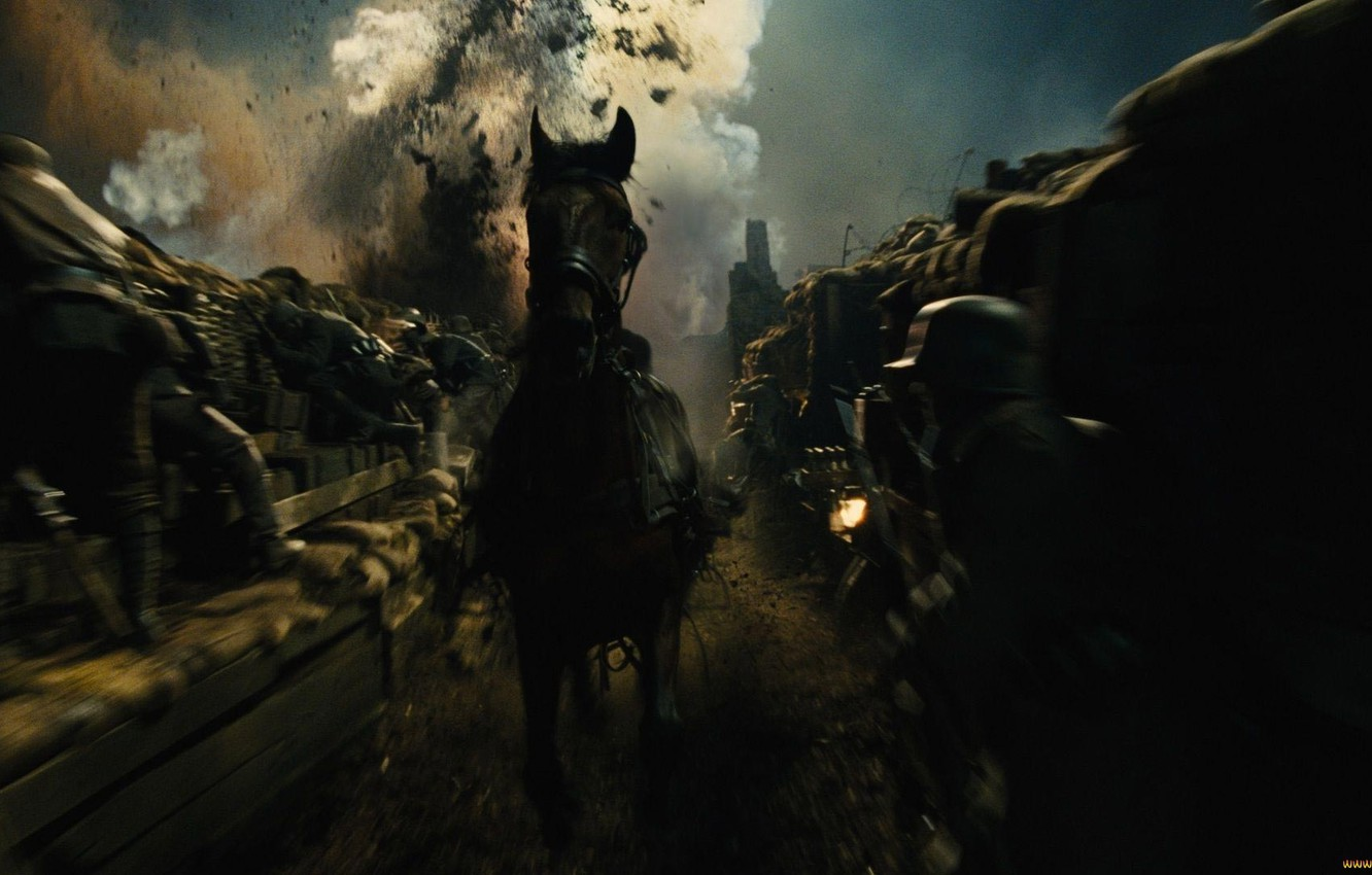 Wallpaper Horse War The Explosion Soldiers War Horse War Horse The Trenches Images For Desktop Section Filmy Download