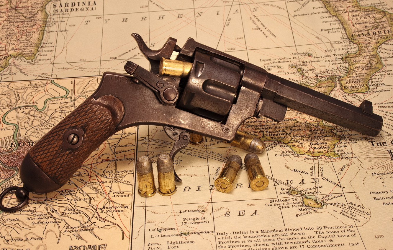 Photo wallpaper weapons, background, revolver