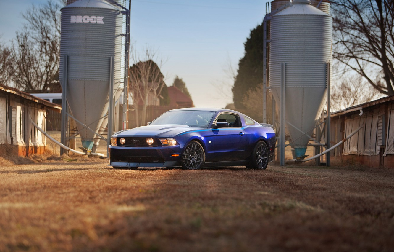 Photo wallpaper mustang, ford, 2011, rtr