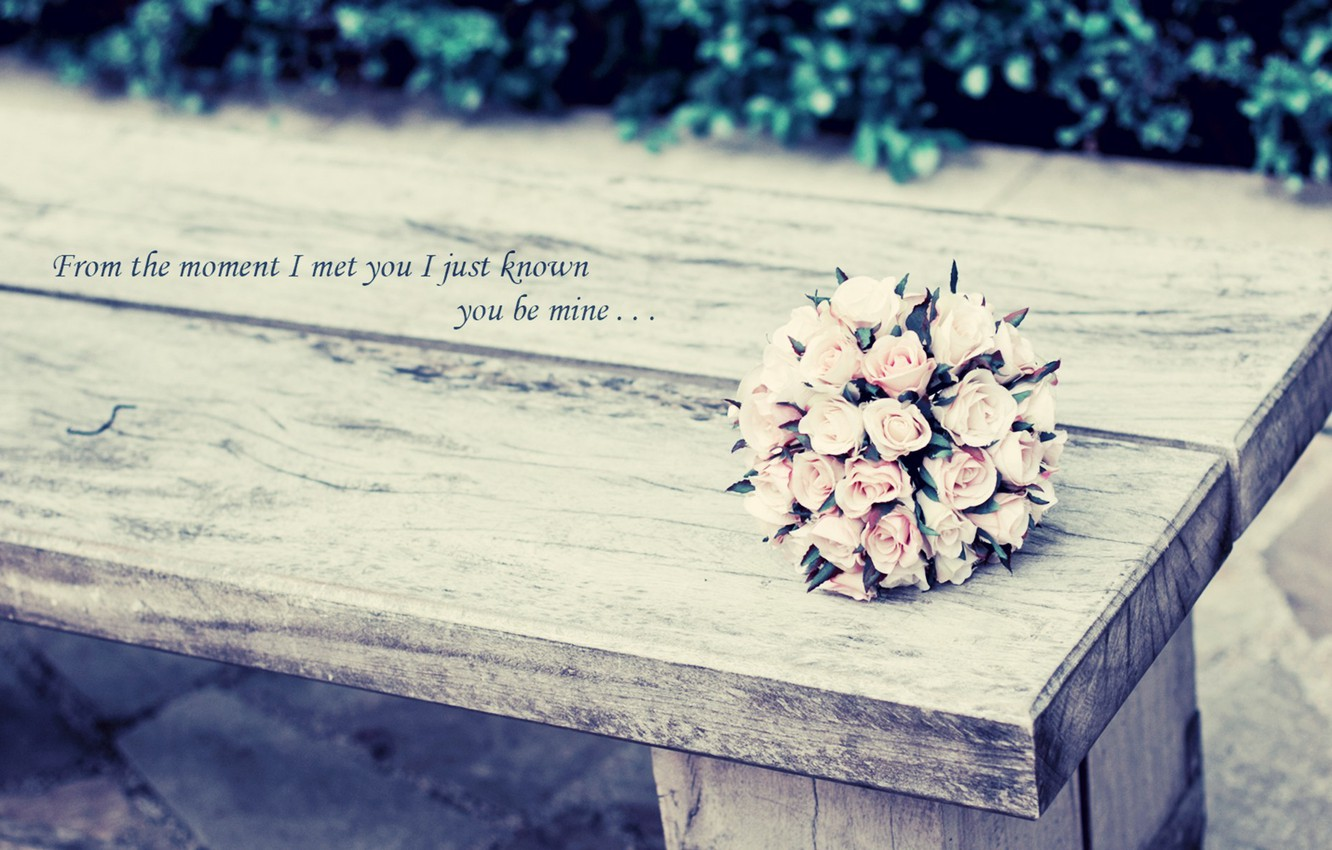 Photo wallpaper greens, leaves, flowers, background, the inscription, Wallpaper, mood, roses, bouquet, pink, lsita