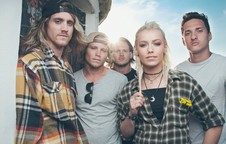 Photo wallpaper Jenna Mcdougall On, Tonight Alive, pop-punk, Matt Best, She, Jake Hardy, Cam Adler, Australia group