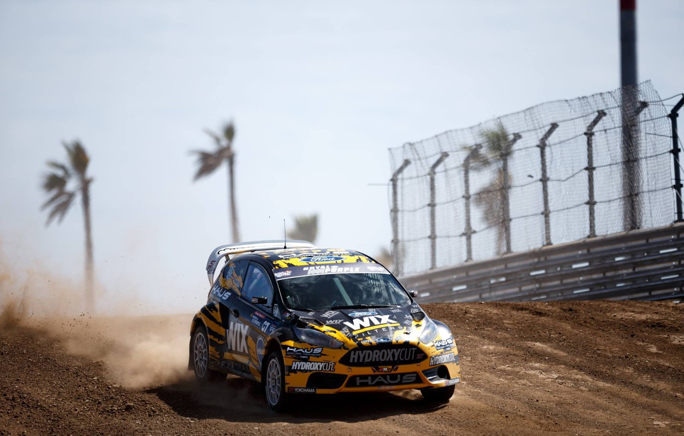 Photo wallpaper Ford, Dust, Fiesta, The front, GRC