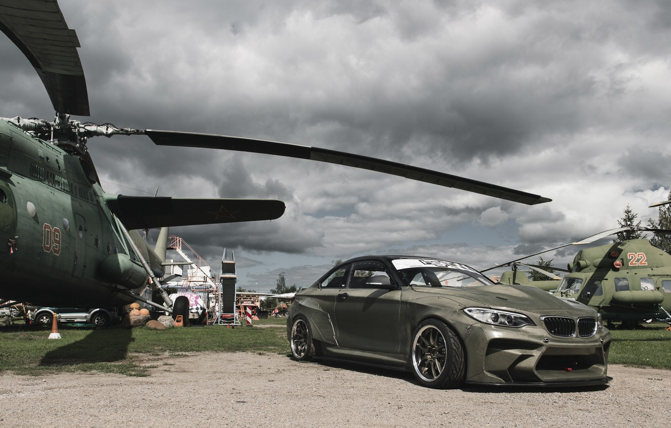 Photo wallpaper bmw, BMW, helicopter