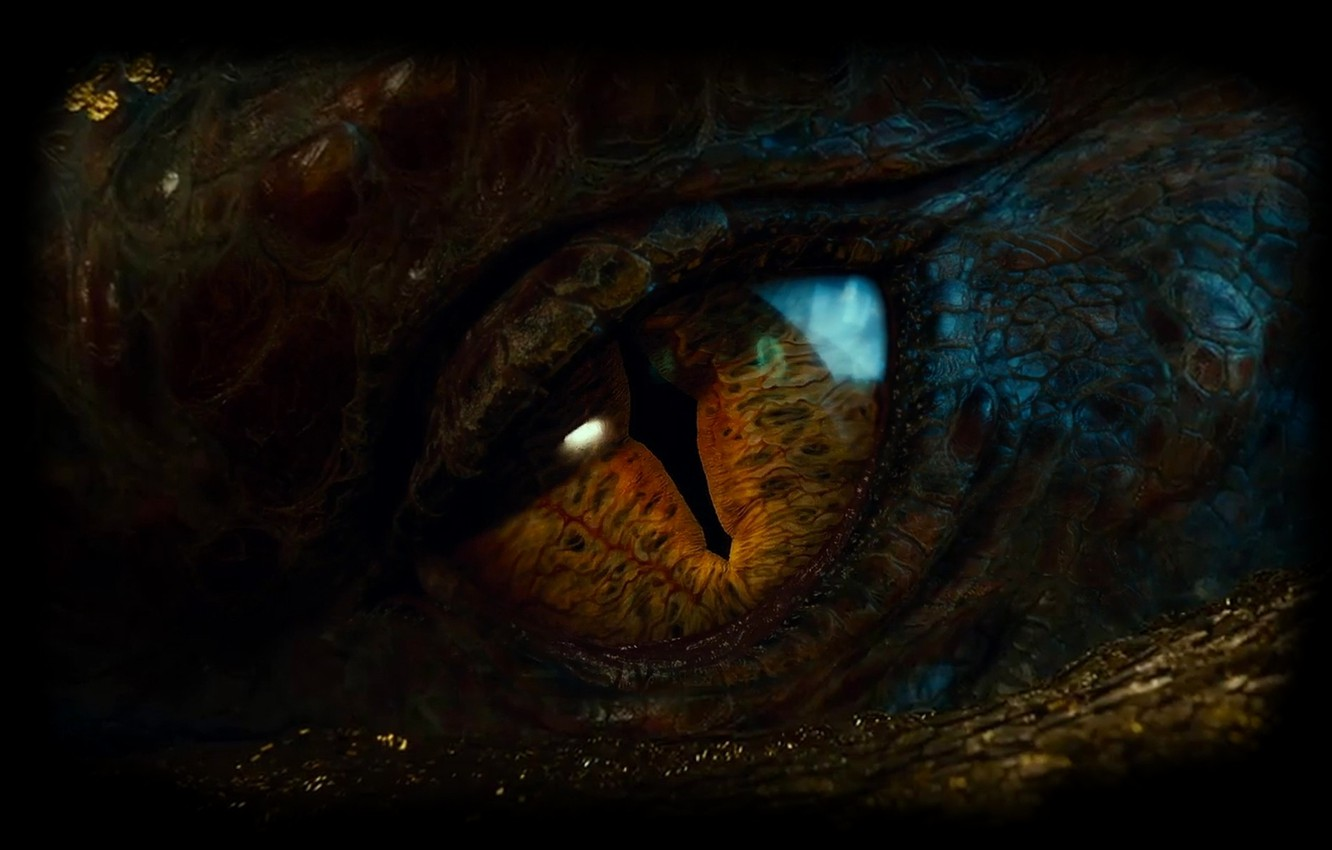Photo wallpaper eyes, Dragon, scales, the pupil, Dragon, eye, The hobbit, The Hobbit, The Hobbit: The Desolation …