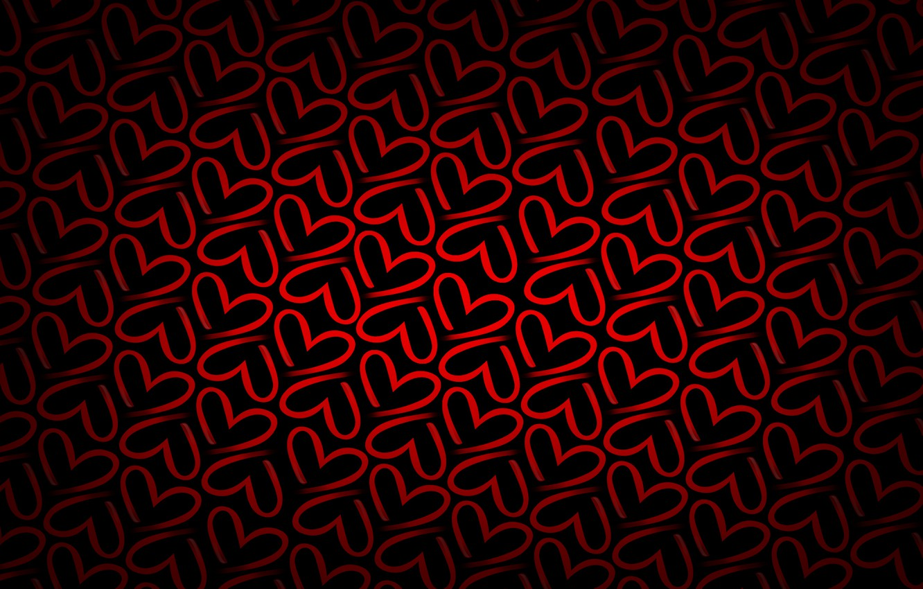 Photo wallpaper red, background, heart, texture, hearts