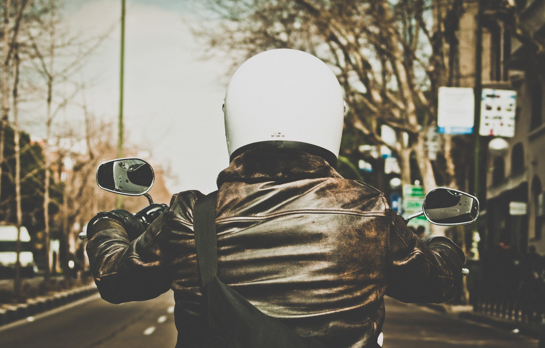 Photo wallpaper motorcycle, street, motorbike