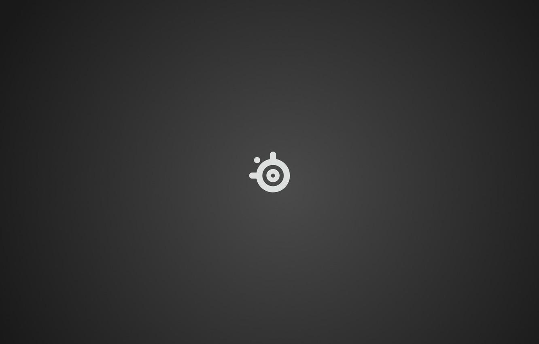 Photo wallpaper logo, steelseries, grery