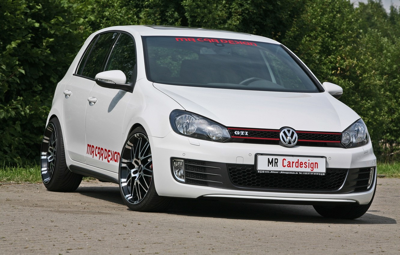 Photo wallpaper car, volkswagen, golf, design, gti