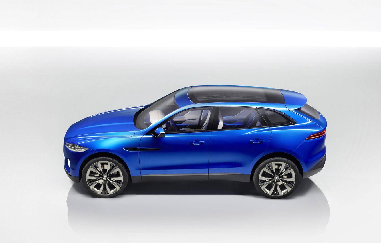 Photo wallpaper car, Jaguar, blue, cross, Jaguar c x17