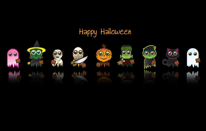 Photo wallpaper text, background, holiday, black, the inscription, minimalism, Halloween, heroes, horror, cartoon