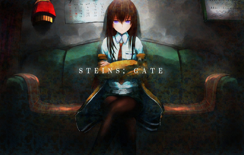 Photo wallpaper girl, anime, art, makise kurisu, steins;gate, sweeter 6