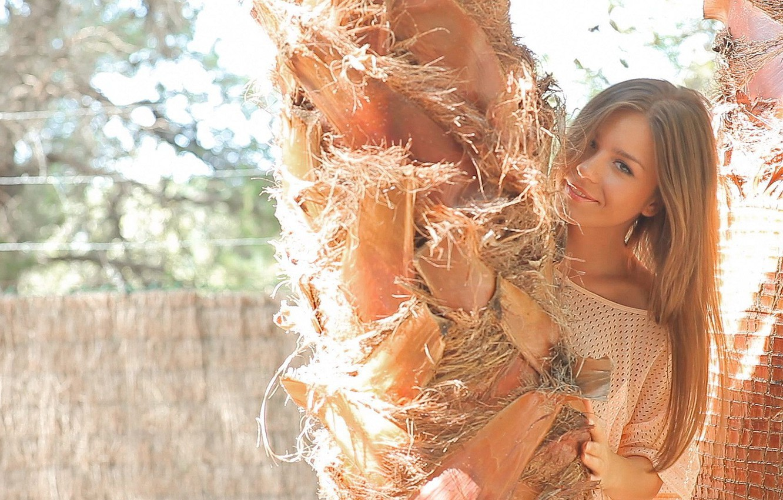 Photo wallpaper girl, tree, model, cute, Lily C, Raisa, Natalia E