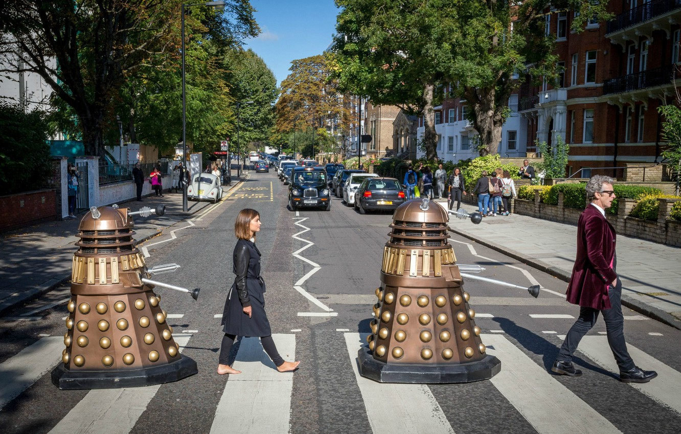 Wallpaper Abbey Road The Beatles Doctor Who Doctor Who