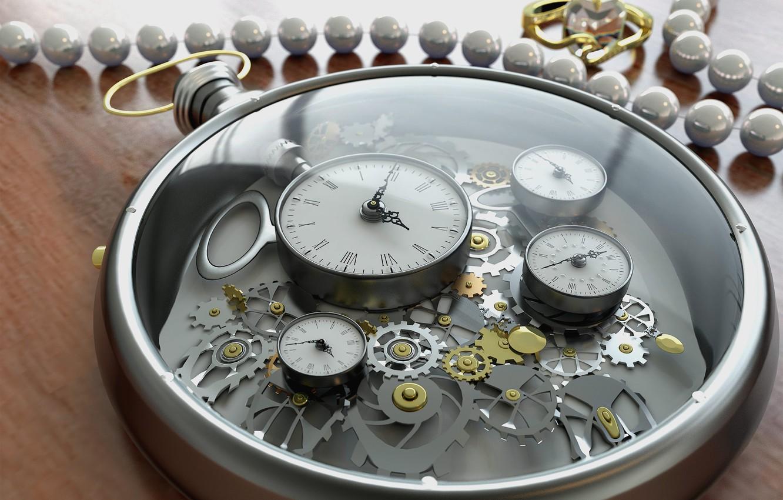 Photo wallpaper glass, time, arrows, watch, figures, gear, decoration, dial, render