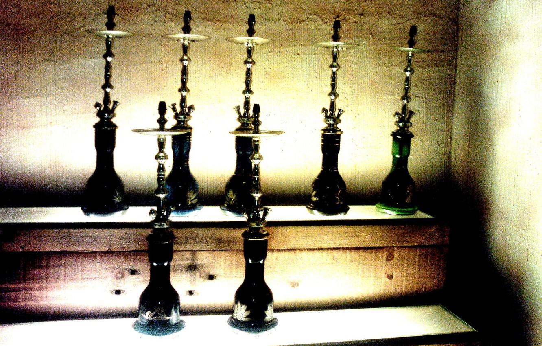 Photo wallpaper meditation, hookah, things, smoke