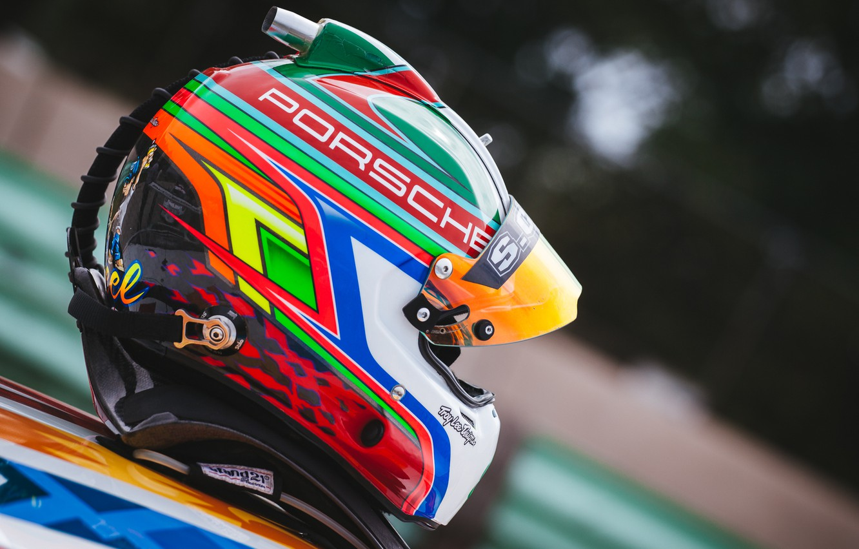 Photo wallpaper race, sport, helmet, car