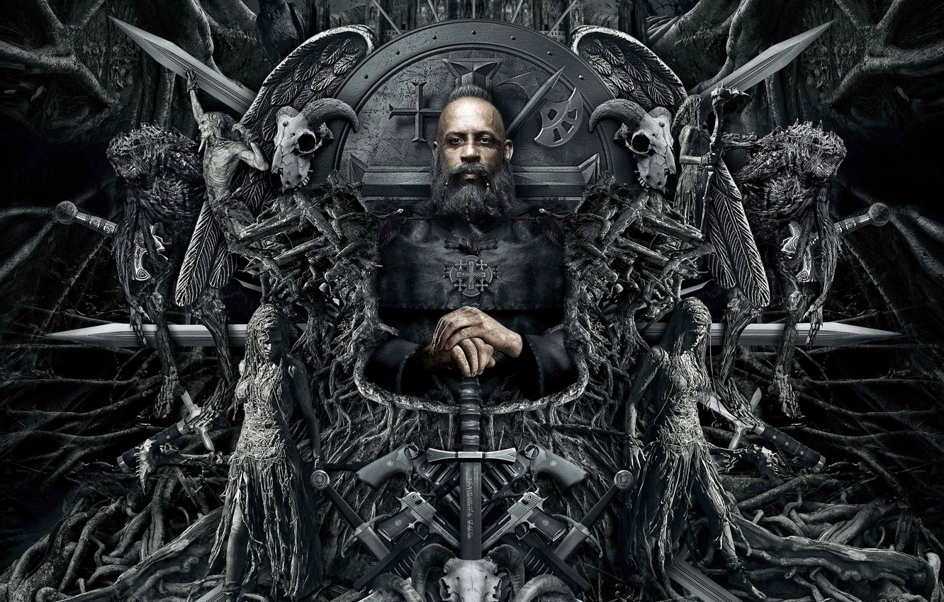 Photo wallpaper Vin Diesel, 2015, The Last Witch Hunter, The Last Witch Hunter