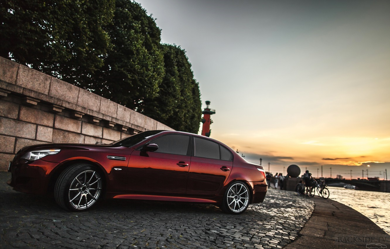 Photo wallpaper machine, auto, pavers, BMW, Shadow, auto, review, E60, The how to check engine temperature, Smotra, …