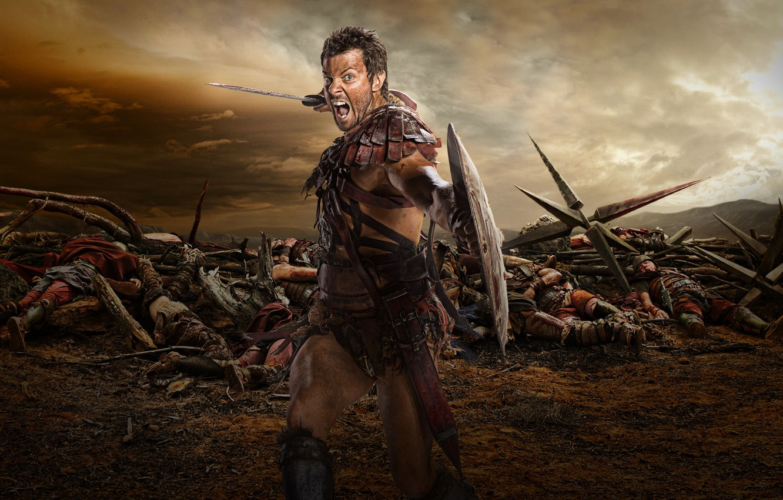 Wallpaper Spartacus, Spartacus, Dan Furnival, Agron, War of
