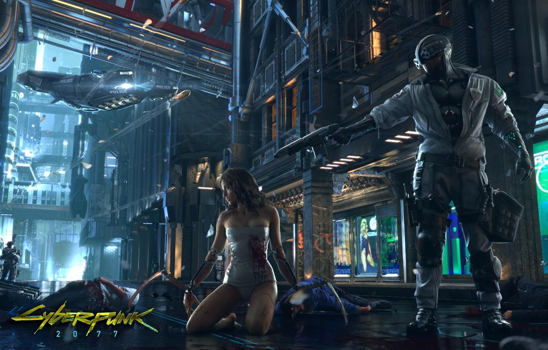 Photo wallpaper girl, future, cyberpunk, CD Projekt RED, cyberpunk 2077, biorobot