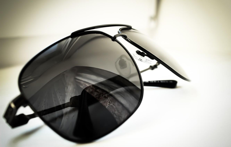 Photo wallpaper macro, photo, black, glasses