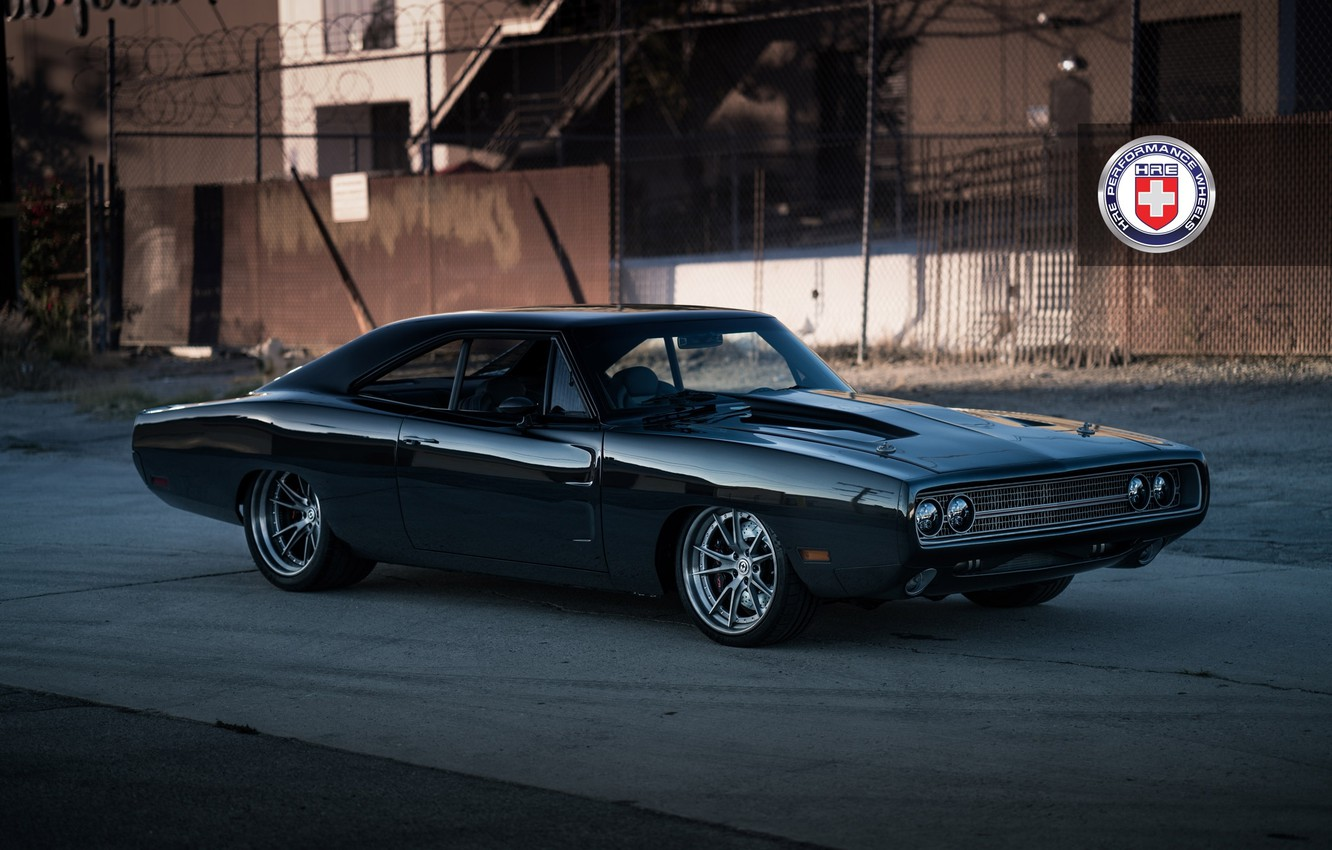 Photo wallpaper Dodge, Charger, with, HRE, Brushed, Tantrum, S104