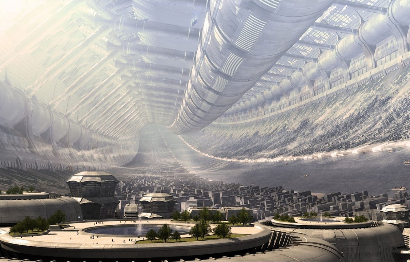 Photo wallpaper future, station, The city, 151