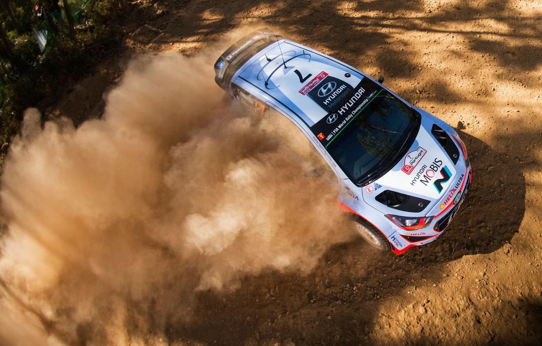Photo wallpaper Dust, Hyundai, WRC, Rally, Rally, i20, Neuville