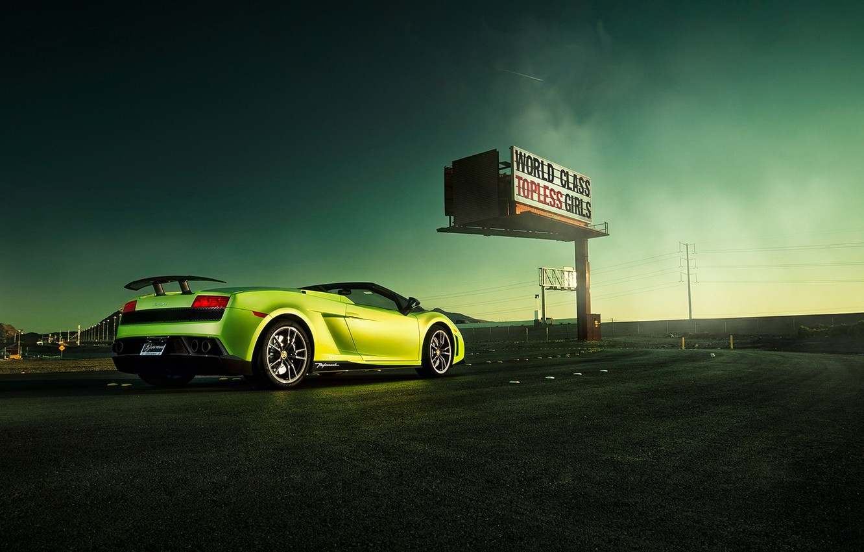 Photo wallpaper road, lamborghini gallardo, autowalls, Lamborghini Gallardo