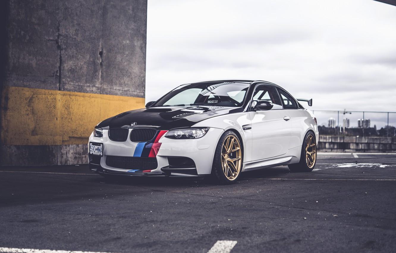 Photo wallpaper BMW, White, E92, M3