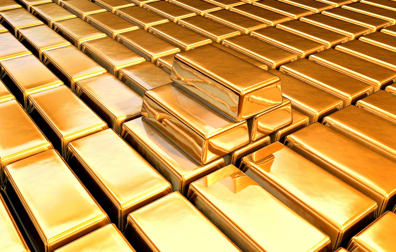 Photo wallpaper gold, texture, bars
