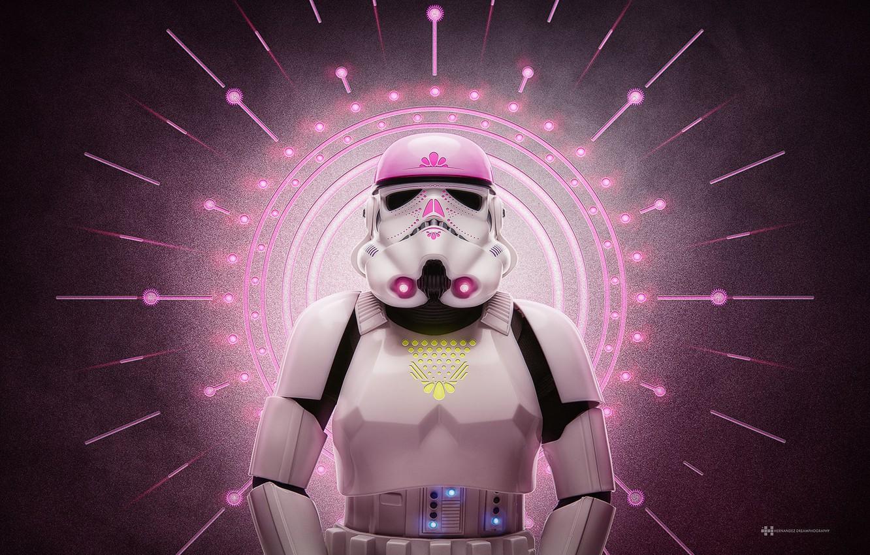 Photo wallpaper pink, glamour, attack, Star wars