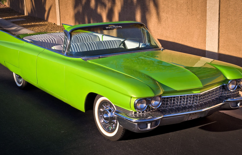Photo wallpaper retro, Cadillac, 1960, convertible, the front
