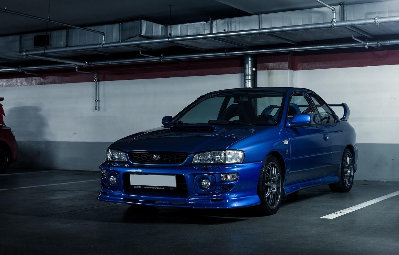 Photo wallpaper Subaru, Impreza, Parking, Coupe, Subaru, Impreza, B22