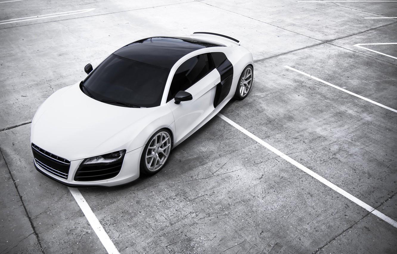 Photo wallpaper white, Audi, Audi, Parking, white