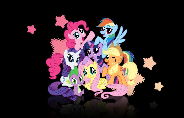 Photo wallpaper applejack, spike, rarity, my little pony, twilight, pinkie pie, rainbow dash, aprjc, my little pony, …